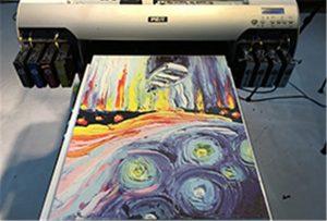 Sampl canvas o Argraffydd UV A2 WER-EH4880UV