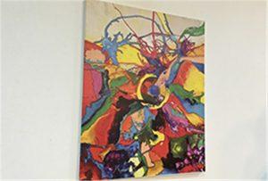 Sampl canvas wedi'i argraffu gan argraffydd UV A1 maint WER-EP6090UV