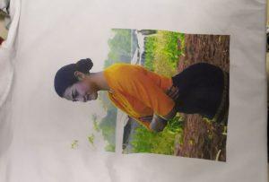 Sampl argraffu crysau T ar gyfer cleient Burma o argraffydd WER-EP6090T